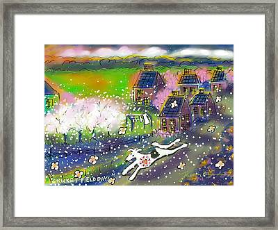 Cricket Field Days Framed Print by Jean Pacheco Ravinski