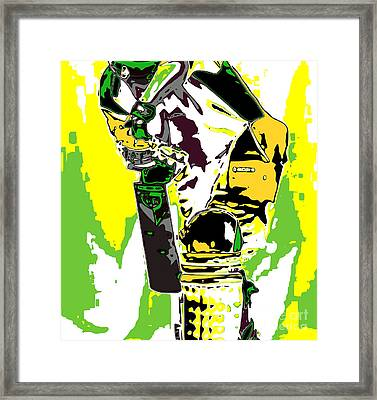 Cricketer Framed Print