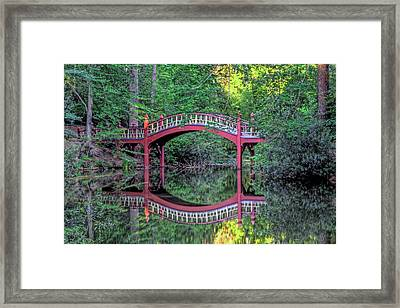Crim Dell Bridge In Summer Framed Print by Jerry Gammon