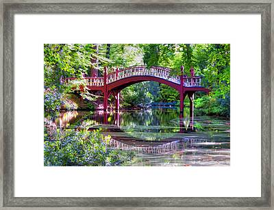 Crim Dell Bridge William And Mary College Framed Print