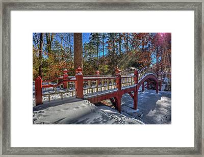 Crim Dell Bridge William And Mary Framed Print by Jerry Gammon