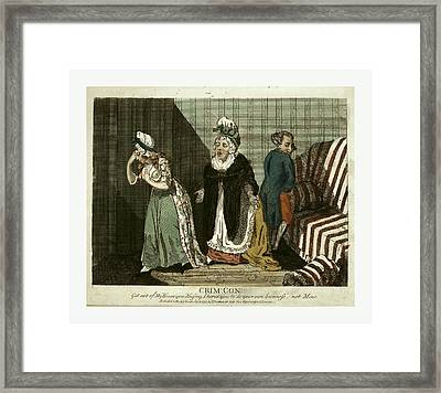 Crime, Con, Get Out Of My House Framed Print by English School