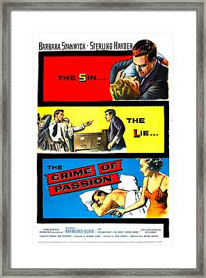 Crime Of Passion, Us Poster Art, Top Framed Print