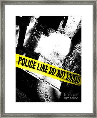 Crime Scene Framed Print by Olivier Le Queinec