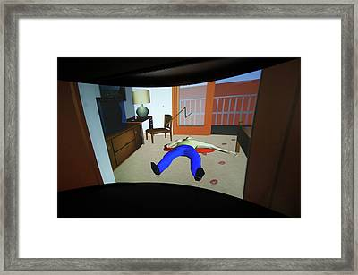 Crime Scene Reconstruction Framed Print by Louise Murray/science Photo Library