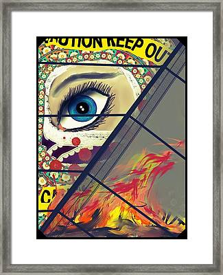 Crime Scene Framed Print