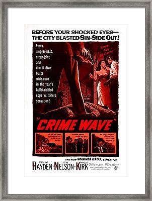 Crime Wave, Aka The City Is Dark, Us Framed Print by Everett