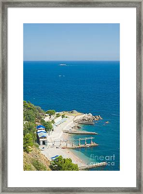 Crimea Landscape Framed Print by Boon Mee
