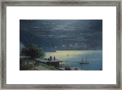 Crimean Coast By Moonlight Framed Print