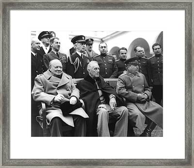 Crimean Conference In Yalta Framed Print