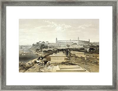 Crimean War Cemetery Framed Print by Library Of Congress