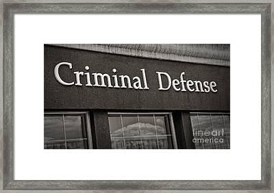 Criminal Defense Law Practice Framed Print