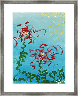 Crimson And Clover 2 Framed Print by Lola Connelly