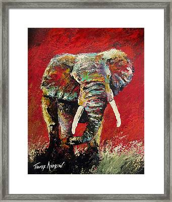 Crimson Charge Framed Print
