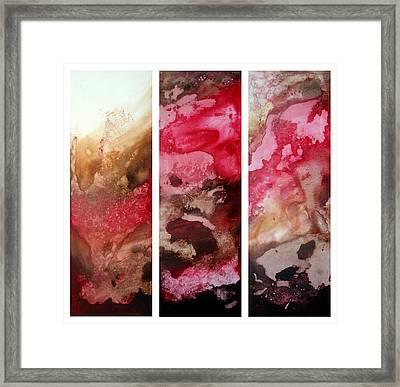 Crimson Cream Original Painting Madart Framed Print by Megan Duncanson