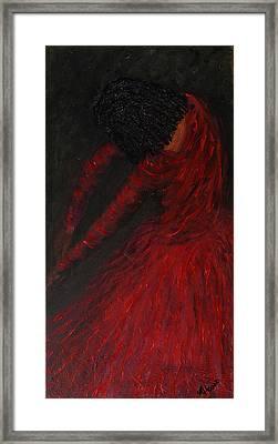 Crimson Dancer Framed Print by Maureen House