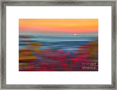 Crimson Dawn - A Tranquil Moments Landscape Framed Print by Dan Carmichael