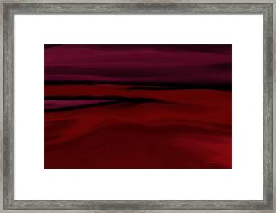 Crimson Fog Framed Print by Tim Stringer