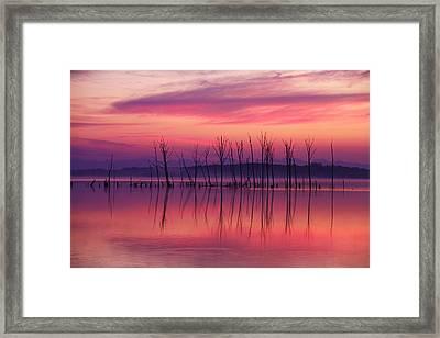 Crimson Morn Framed Print