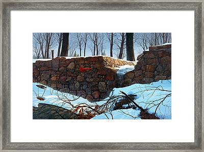 Framed Print featuring the painting Crimson Morning by Tom Wooldridge