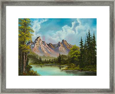 Crimson Mountains Framed Print by C Steele