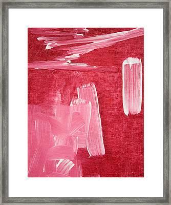 Crimson Narrative  C2013 Framed Print by Paul Ashby