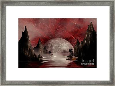 Crimson Night Framed Print by Anthony Citro