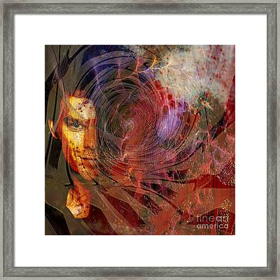 Crimson Requiem - Square Version Framed Print