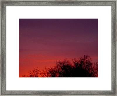 Crimson Sky Framed Print