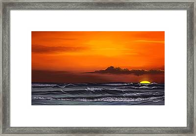 Crimson Sunset Framed Print by Anthony Fishburne