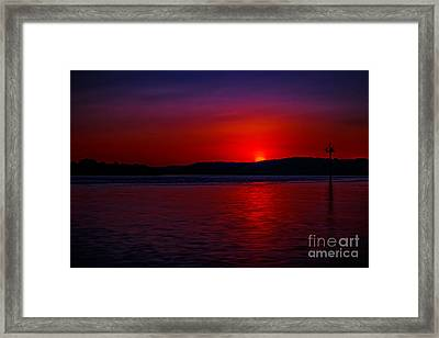 Crimson Sunset Framed Print
