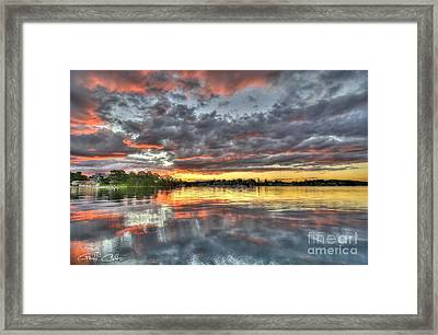 Crimson Sunset Over Cockle Bay Framed Print by Geoff Childs