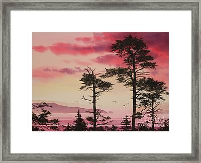 Crimson Sunset Splendor Framed Print by James Williamson