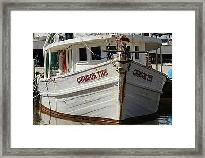 Crimson Tide At Fly Creek Marina Framed Print by Lynn Jordan