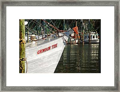 Crimson Tide Bow Framed Print by Michael Thomas