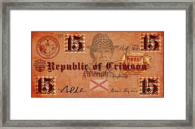 Crimson Tide Currency Framed Print