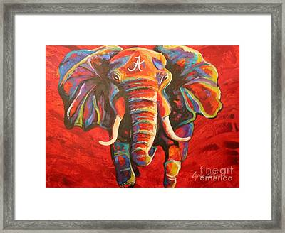 Crimson Tide Elephant Framed Print