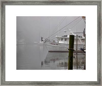 Crimson Tide In The Mist Framed Print