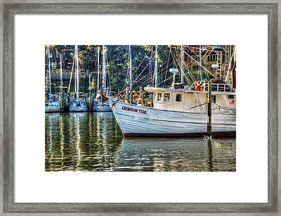 Crimson Tide In The Sunshine Framed Print
