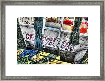 Crimson Tide Stern Framed Print