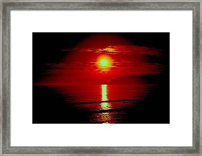Framed Print featuring the photograph Crimson Tide by Tamara Bettencourt