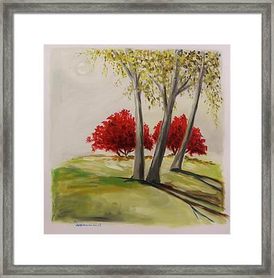 Crimson Twins Framed Print by John Williams