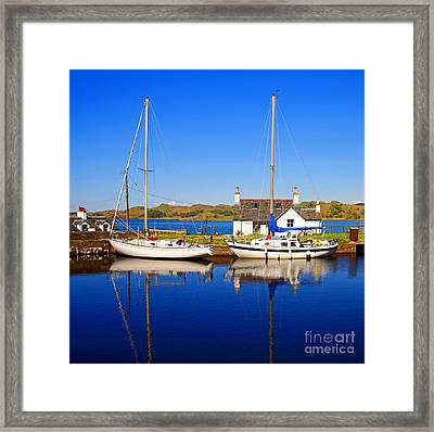 Framed Print featuring the photograph Crinan Canal by Craig B