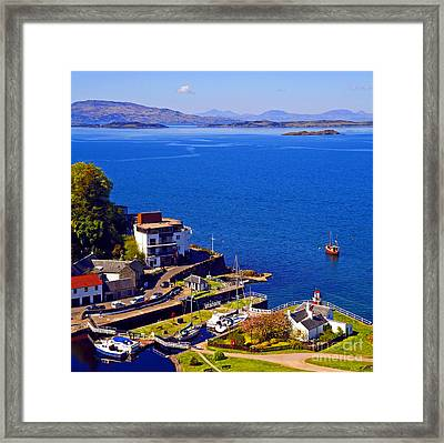 Crinan Harbour Scotland Framed Print by Craig B
