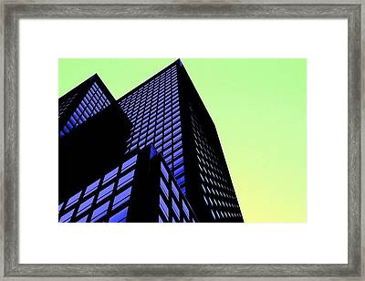 crisp angles NY city Framed Print by Terry Horstman
