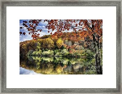 Crisp Autumn Day In New Jersey Framed Print by George Oze