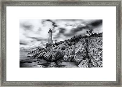Crisp Point Lighthouse Framed Print by Todd Bielby