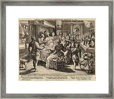 Crispijn De Passe I After Maarten De Vos Dutch Framed Print by Quint Lox