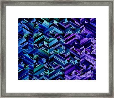 Criss Cross Blues Framed Print