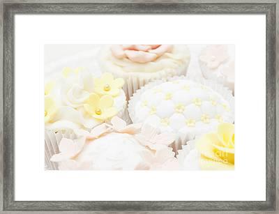 Criss-cross Cupcake Framed Print
